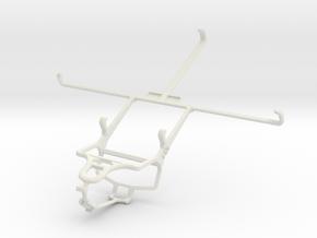 Controller mount for PS4 & Dell Venue 8 in White Natural Versatile Plastic