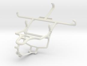 Controller mount for PS4 & LG Nexus 5 in White Natural Versatile Plastic