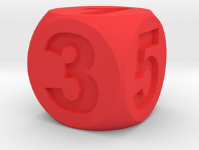 Number Die, Standard Size 16mm in Red Processed Versatile Plastic