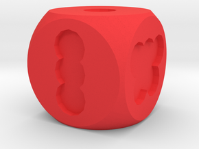 Hole Die, Standard Size 16mm in Red Processed Versatile Plastic