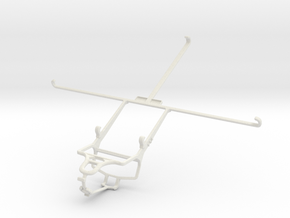 Controller mount for PS4 & Sony Xperia Tablet Z Wi in White Natural Versatile Plastic