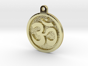 Om Pendant in 18k Gold Plated Brass
