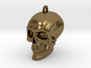 Skull in Natural Bronze