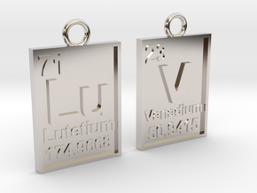 Chemical Luv Pendant in Rhodium Plated Brass