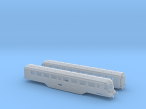 GWR - W35W&W36W - Twin Car Set - N - 1:148 in Smooth Fine Detail Plastic