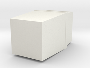 HO Scale Trash Can in White Strong & Flexible