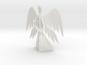 Angel 3D - Prayer and Cross in White Natural Versatile Plastic