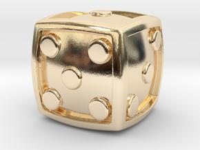 Num Dice  in 14K Gold
