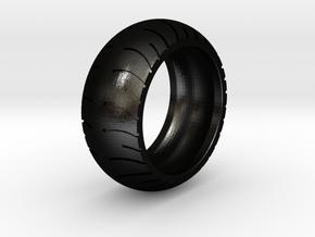 Chopper Rear Tire Ring Size 12 in Matte Black Steel