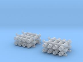 Flaschenbatterie 2x in Smooth Fine Detail Plastic