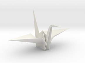 Fold Origami Crane in White Strong & Flexible