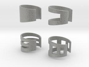 Ear Cuffs in Metallic Plastic