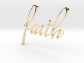 Faith Connector in 14K Yellow Gold