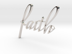 Faith Connector in Rhodium Plated Brass
