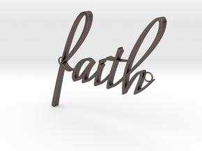 Faith Connector in Polished Bronzed Silver Steel