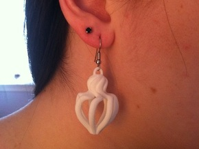 Swirl Earring in White Natural Versatile Plastic