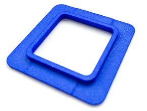 Spacer for Novoflex QPL-Video plate in Blue Processed Versatile Plastic