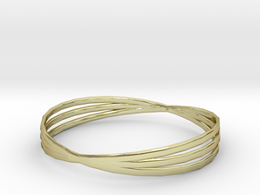 Bangle 3 Rings Size Medium in 18k Gold Plated Brass