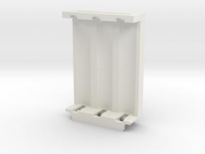 1590B 18650x3 Battery Sled Insert in White Natural Versatile Plastic