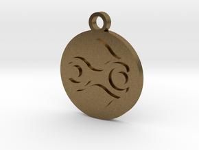 Legend of Zelda Gerudo Symbol Pendant Necklace in Natural Bronze