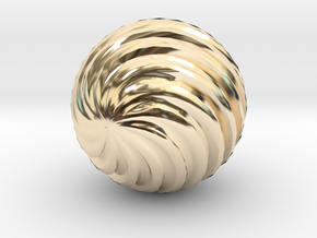 Wave Ball in 14k Gold Plated Brass