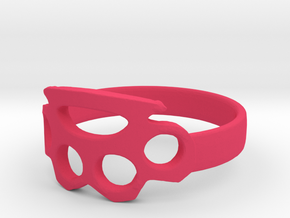 knuckle duster ring in Pink Processed Versatile Plastic