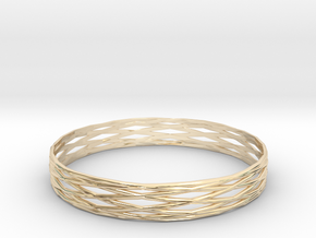 Bangle 5 in 14k Gold Plated Brass