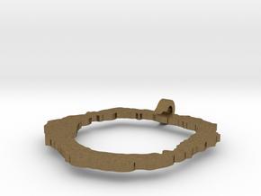 Vesuvius Pendant in Natural Bronze