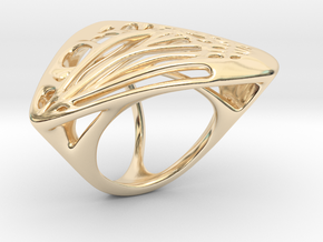 Butterfly Ring [ Size 5 ] in 14k Gold Plated Brass