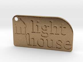 Light House Key Chain in Natural Brass