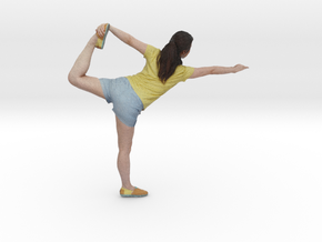 Yoga Pose (Lord of the Dance Pose - Natarajasana) in Full Color Sandstone