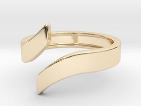 Open Design Ring (22mm / 0.86inch inner diameter) in 14k Gold Plated Brass