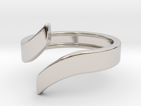 Open Design Ring (24mm / 0.94inch inner diameter) in Rhodium Plated Brass