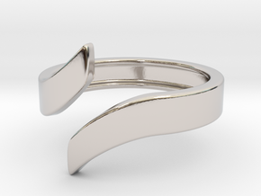 Open Design Ring (27mm / 1.06inch inner diameter) in Rhodium Plated Brass