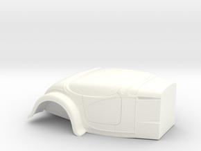 1/24 +4 Inch Fender L Firewall Bantam Altered in White Processed Versatile Plastic