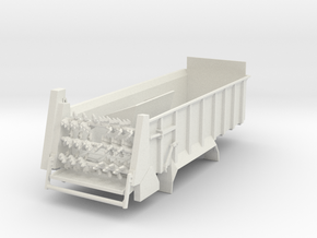 1/64 Manure spreader short frame- Horizontal beate in White Natural Versatile Plastic