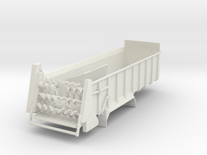 1/64 Manure spreader long frame- Horizontal beater in White Natural Versatile Plastic