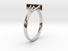 Suspension Ring US Size  5/8 UK Size R in Platinum
