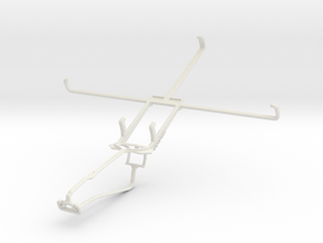 Controller mount for Xbox One Chat & Acer Iconia W in White Natural Versatile Plastic