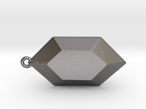 Rupee Pendant in Polished Nickel Steel