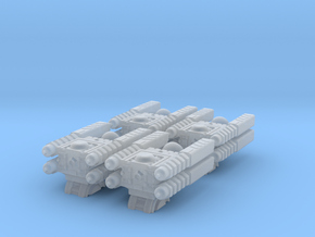 Quad Cannon Upscaled 2X Assembly Of Four in Smooth Fine Detail Plastic