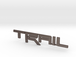 Trail Emblem Revision 02 in Polished Bronzed Silver Steel