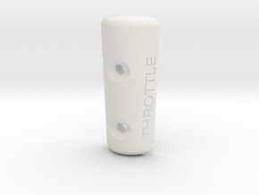 Spitfire Throttle Top Bakelite Handle in White Natural Versatile Plastic