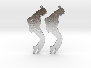 Michael Jackson Earrings Ver.3 in Natural Silver