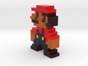 Pixel Mario in Full Color Sandstone