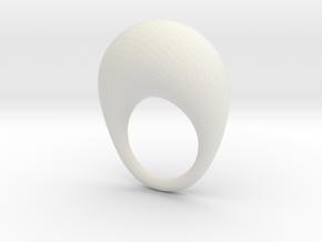 BulgeRingD20mm in White Natural Versatile Plastic