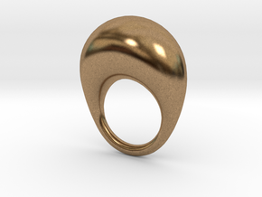 BulgeRingD20mm in Natural Brass