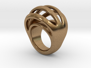 RING CRAZY 16 - ITALIAN SIZE 16 in Natural Brass