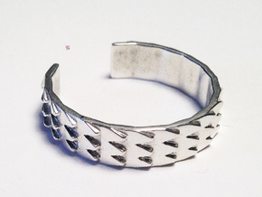 Metal Snake Skin - Sz. 5 in Fine Detail Polished Silver