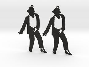 Michael Jackson Earrings Ver.4 in Black Acrylic